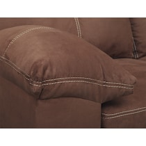 ricardo coffee dark brown sofa