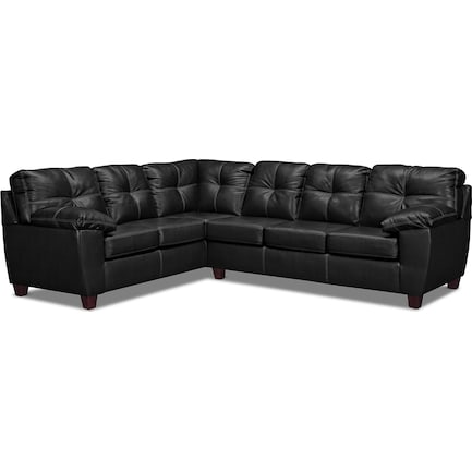 Ricardo 2-Piece Foam Sleeper Sectional with Left-Facing Sofa - Onyx