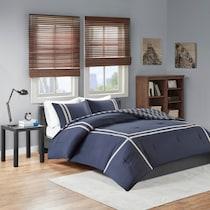 riggs blue full queen bedding set