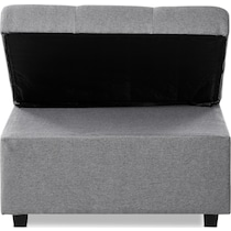 riley gray convertible chair