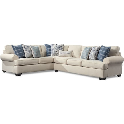 Riley 2-Piece Large Sectional - Linen