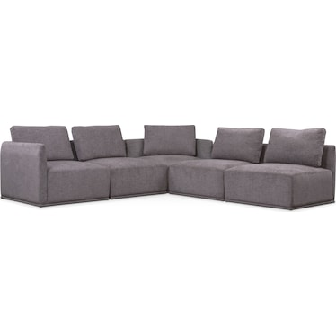 Rio 5-Piece Sectional with 2 Corner Chairs