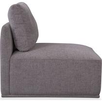 rio gray armless chair