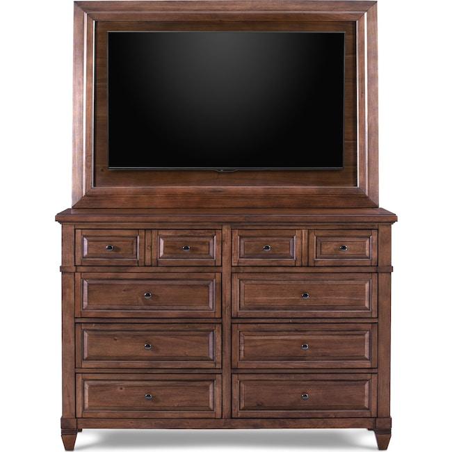 Bedroom Furniture - Rosalie Dresser with TV Mount