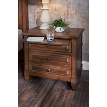 rosalie dark brown nightstand