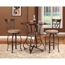 rosedale dark brown adjustable bar table