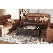 roxboro dark brown lift top coffee table