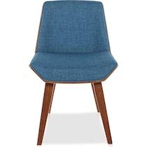 rubeus blue accent chair