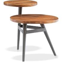 rue dark brown end table