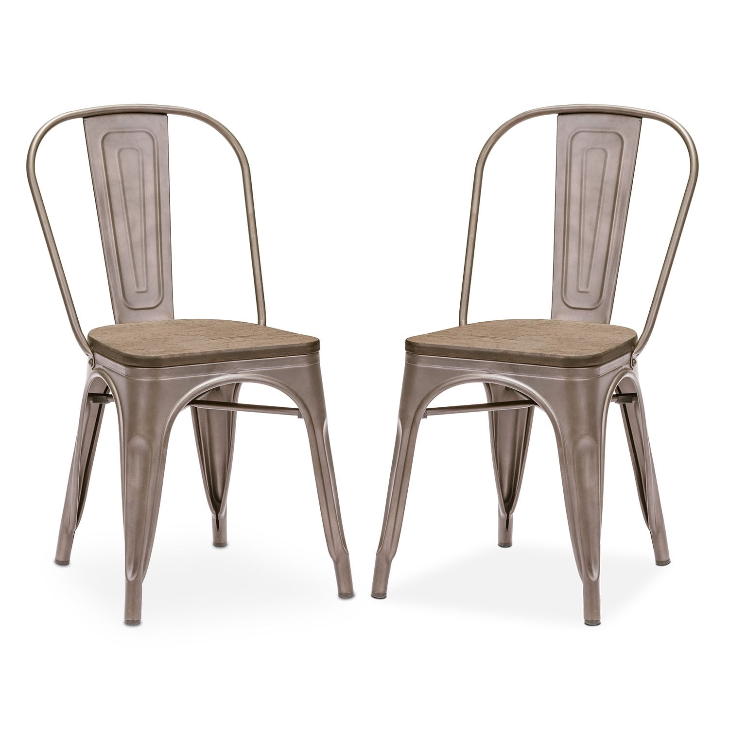 Dining Room Furniture - Rustica 2-Pack Chairs - Steel