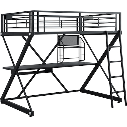 Ryker Full Loft Bed with Desk
