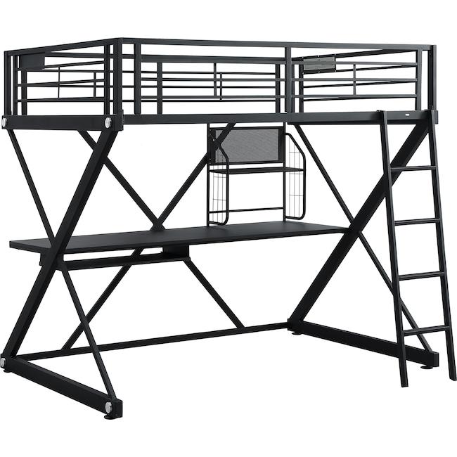 Bedroom Furniture - Ryker Full Loft Bed with Desk