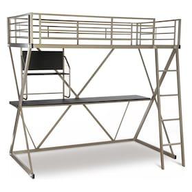 Ryker Twin Loft Bed with Desk
