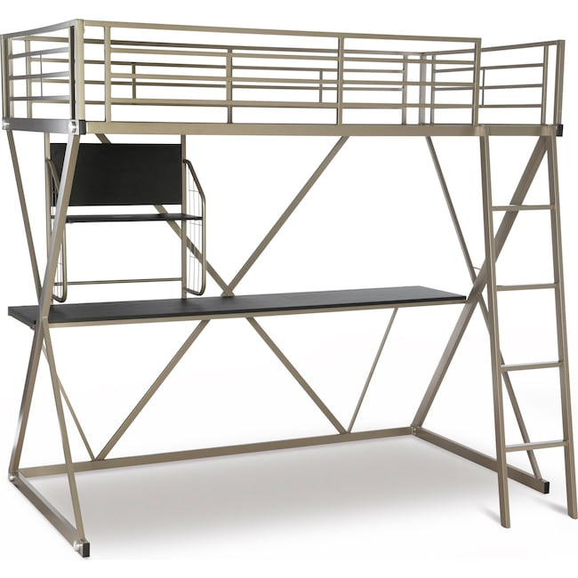 Bedroom Furniture - Ryker Twin Loft Bed with Desk