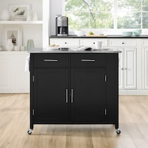 rylan black kitchen cart