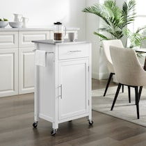 rylan white kitchen cart
