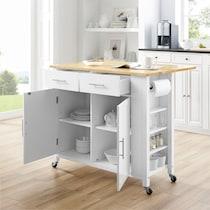 rylan white kitchen cart