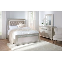 sabrina light brown  pc queen bedroom