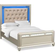 sabrina light brown king bed