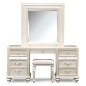 Sabrina Vanity, Mirror and Bench