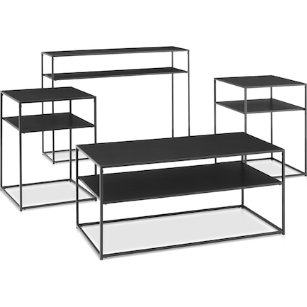 Samar 4-Piece Table Set with Coffee Table, Console Table and 2 End Tables
