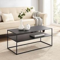 samar black coffee table