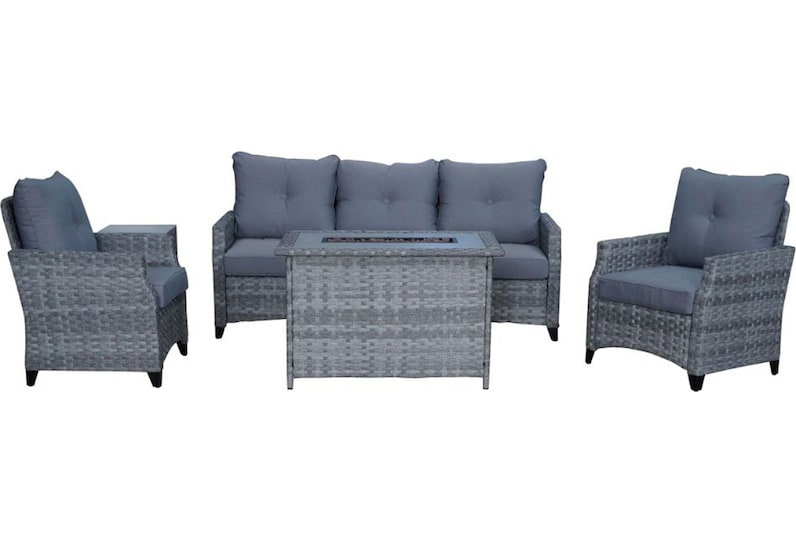 santa cruz gray outdoor sofa set