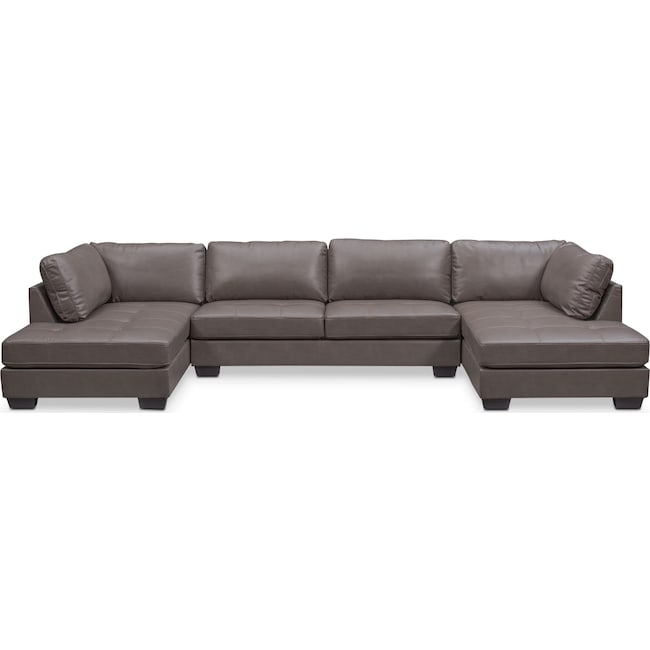 Living Room Furniture - Santana 3-Piece Sectional