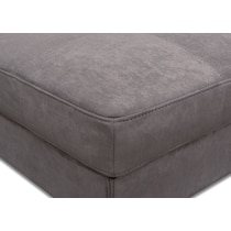 santana slate gray cocktail ottoman