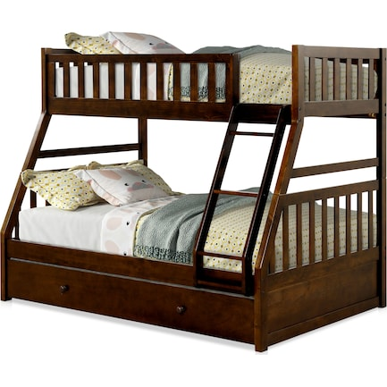 Scout Twin Over Full Trundle Bunk Bed - Espresso