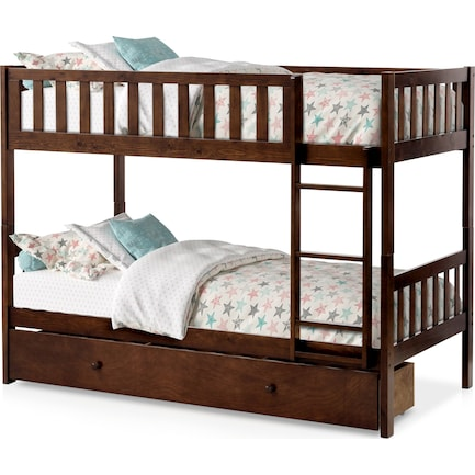 Scout Twin Over Twin Storage Bunk Bed - Espresso