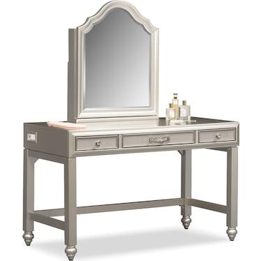 Serena Vanity and Mirror - Platinum