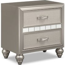 serena youth platinum silver nightstand