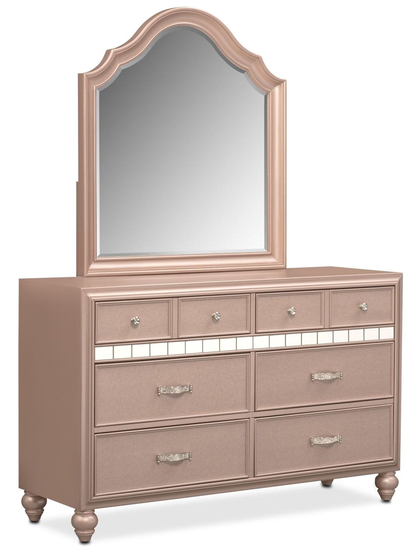 Bedroom Furniture - Serena Dresser and Mirror