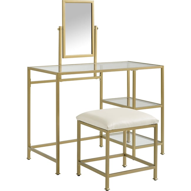 Accent and Occasional Furniture - Shea Vanity and Stool
