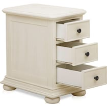 shelly white chairside table