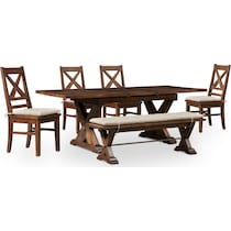 shiloh dark brown  pc dining room