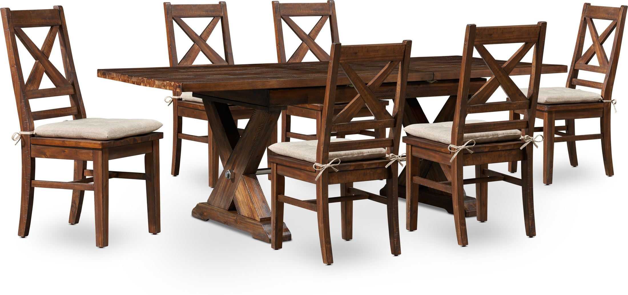 Dining Room Furniture - Shiloh Dining Table and 6 Dining Chairs