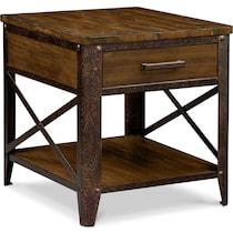 shortline distressed pine end table