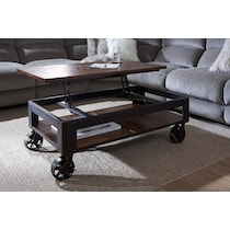 shortline distressed pine lift top coffee table