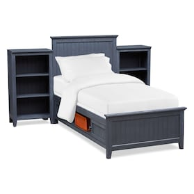 Sidney Storage Bed and 2 Bookcases