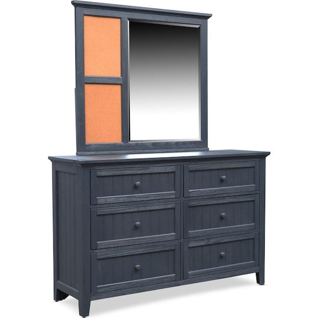 Bedroom Furniture - Sidney Dresser and Mirror