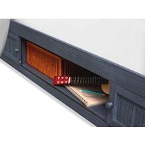 sidney blue twin bookcase bed w storage