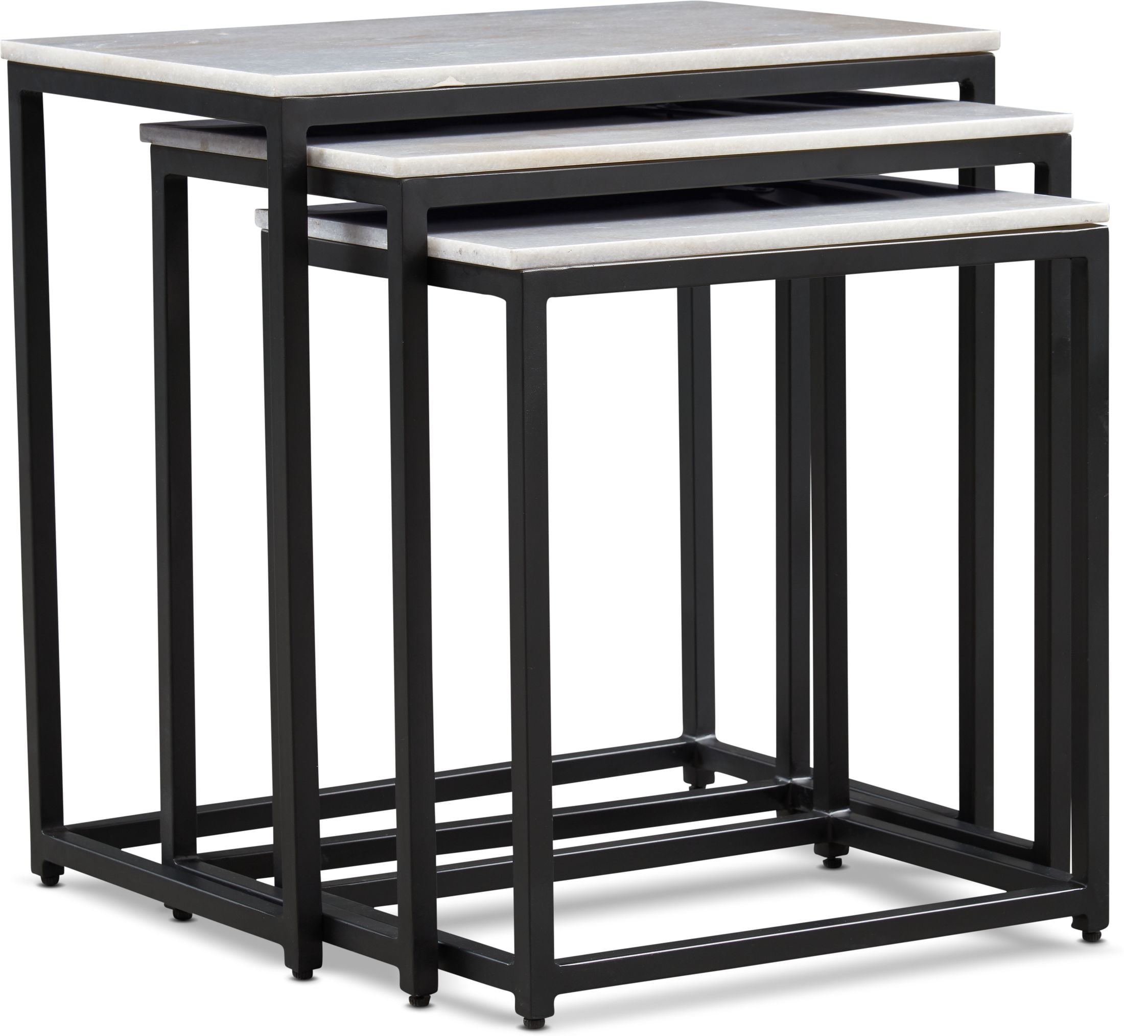 Accent and Occasional Furniture - Simplicity Marble Nesting Tables