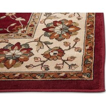 sonoma noble red and beige area rug ' x '