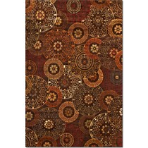 sonoma tyler red beige sage chocolate area rug ' x '