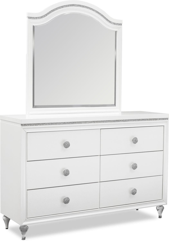 Kids Furniture - Sophia Dresser and Mirror