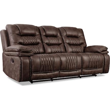Sorrento Manual Reclining Sofa - Brown