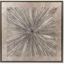 spokes gray wall art