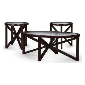 Starburst Coffee Table and 2 End Tables